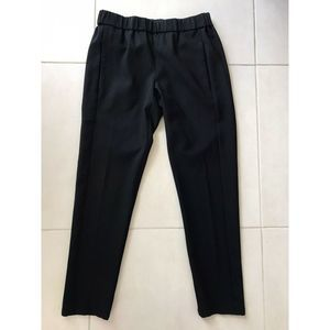 Theory Elastic Waist Stretch Pockets Tapered Pants
